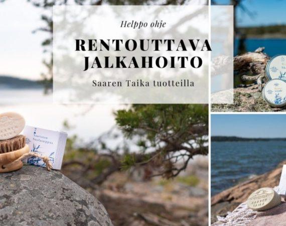 Rentouttava jalkahoito saaren taika tuotteilla