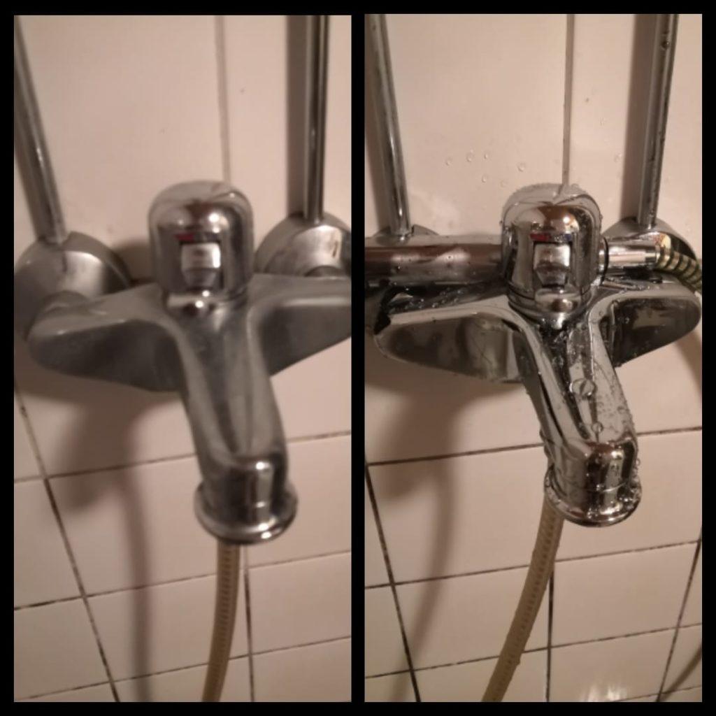 Huikee ero tuli suihkun hanaan.. Ennen oon pessy kylpyhuoneen tolulla ja kylpyhuoneen pesuaineilla mut koskaan en oo tällaseen lopputulokseen päässy