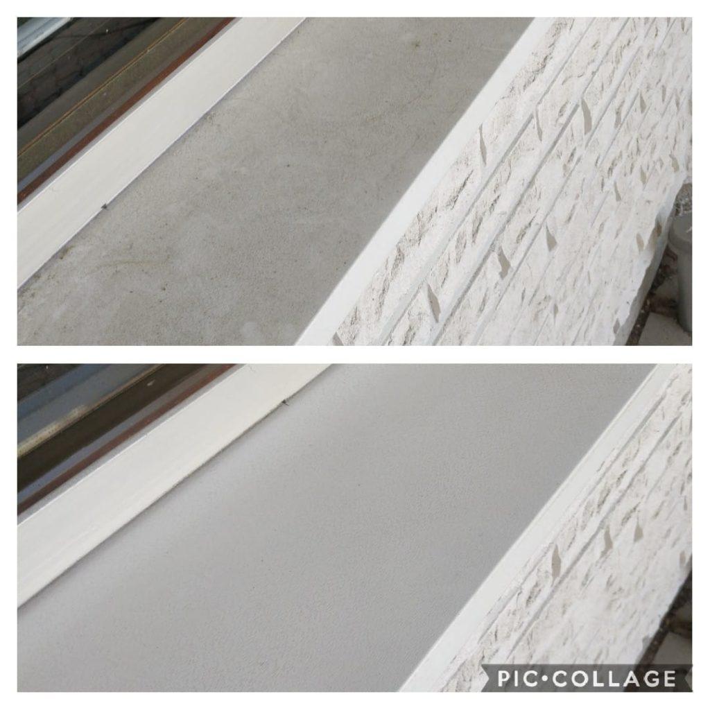 Ja vielä pinttyneet ikkunapellit: sieneen saippuaa, pyyhkäisy ja vaikutus. Mikrokuituliinalla lika pois