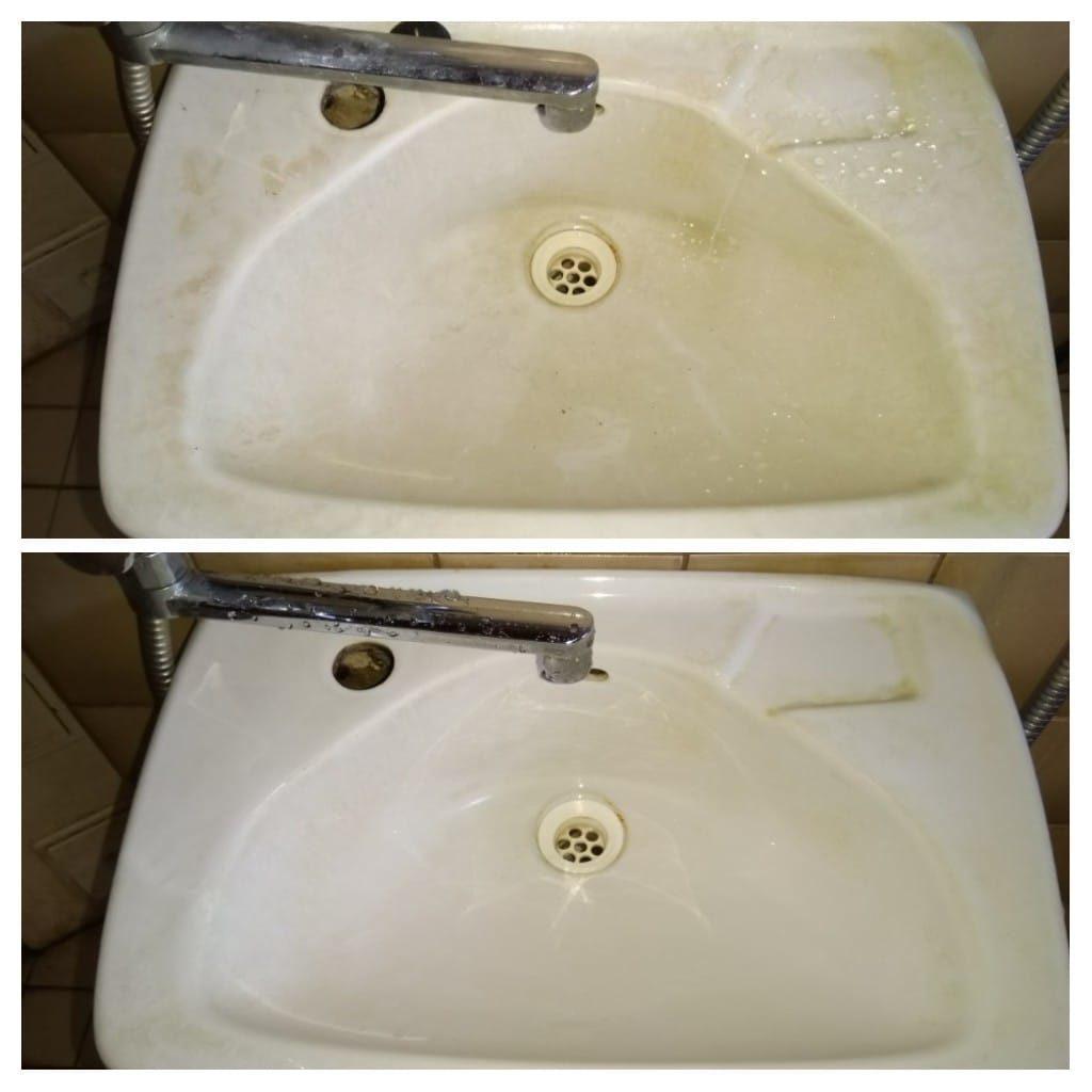 Käsien pesuallas puhtaaksi