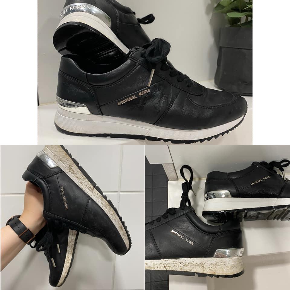 Lemppari kengät putsattu mikrokuituliinalla ja sitrus siivoussaippualla