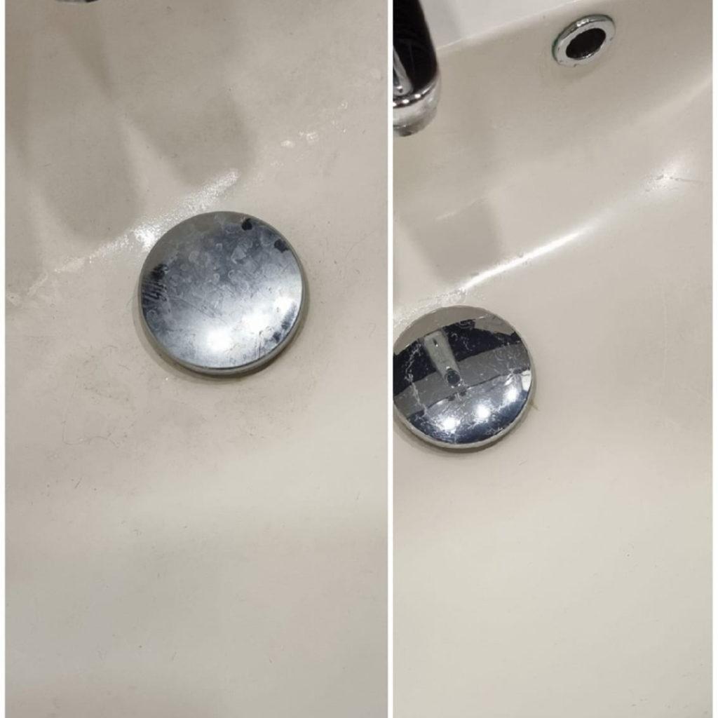 Siivoussaippualla lavuaari puhtaaksi