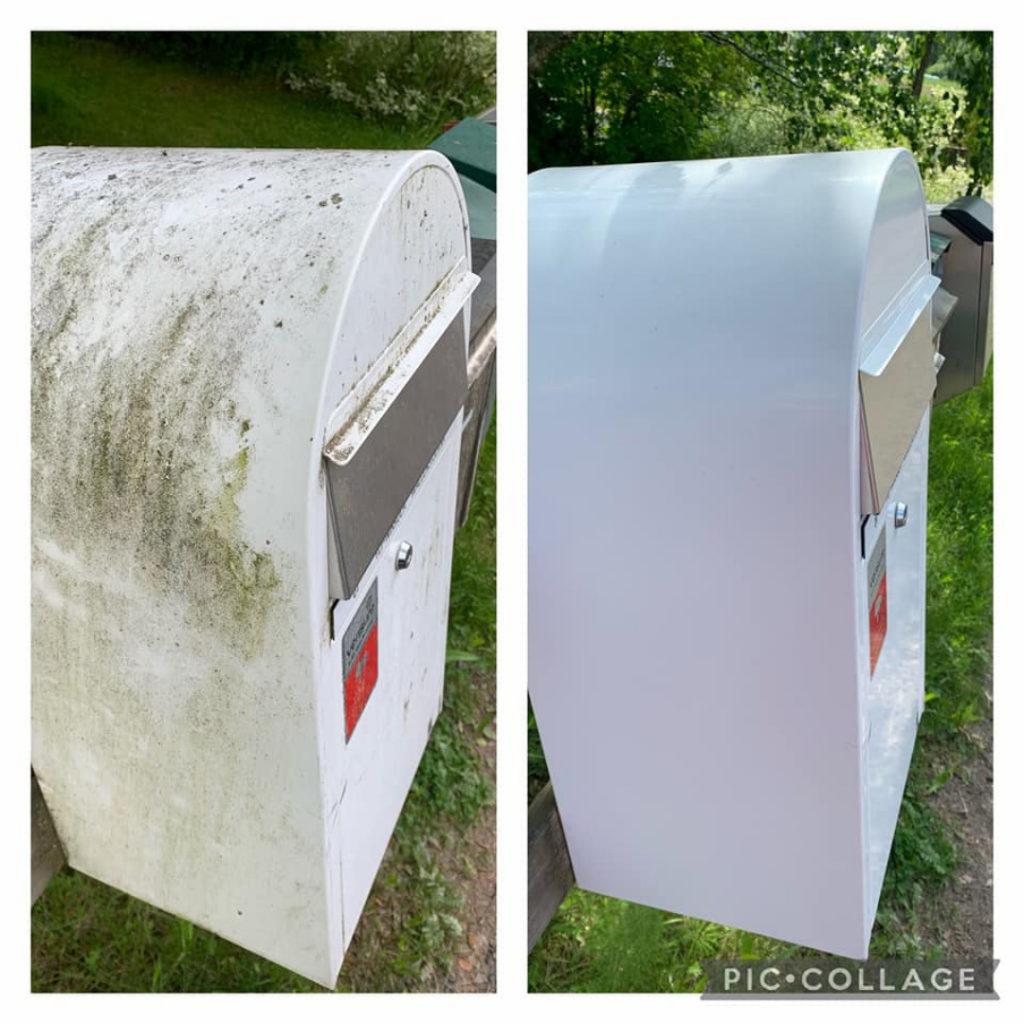Siivoussaippualla postilaatikko puhtaaksi