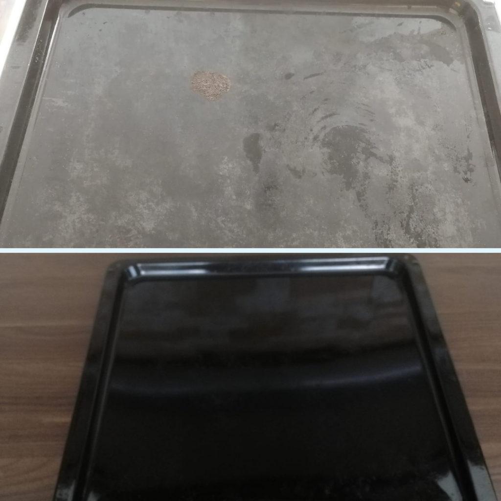 Uunipelti puhtaaksi siivoussaippualla