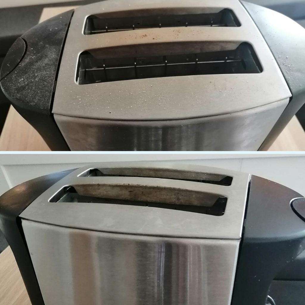 Leivänpaahdin puhtaaksi siivoussaippualla