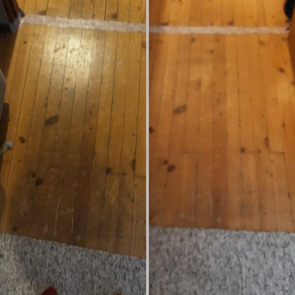 Lattia puhtaaksi siivoussaippualla