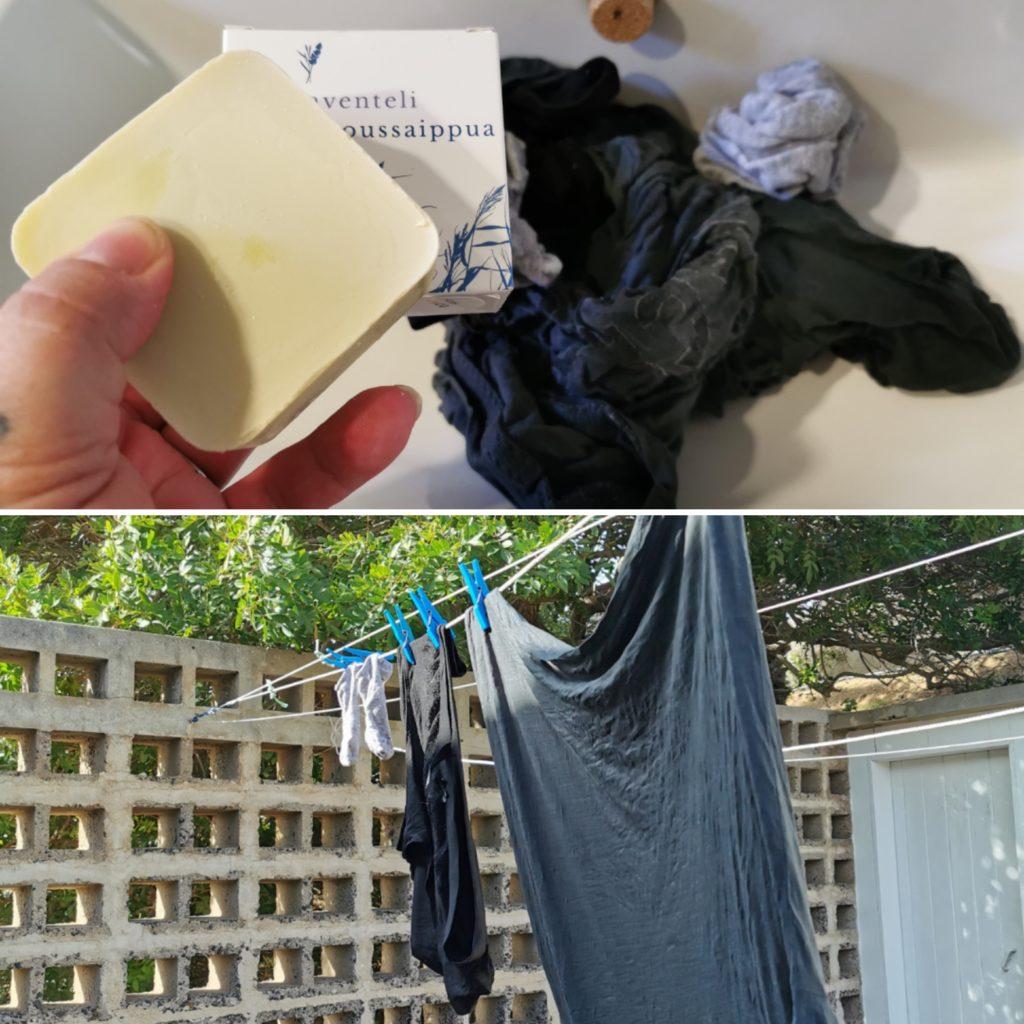 pyykinpesu siivoussaippualla ekologisesti