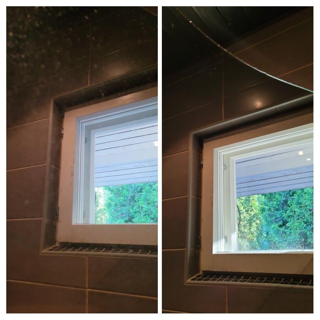 suihkukaapin lasit vaatii säännöllisesti pesun ja saippua toimii todella hyvin!