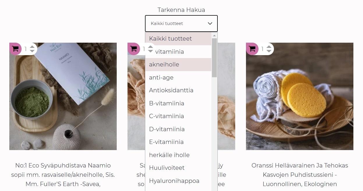 saaren taika shop ihotyypit suositukset luonnonkosmetiikka