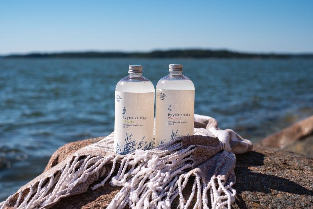 Saaren taika biohajoava pyykkietikka ekologinen huuhteluaine