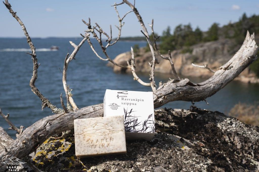 saaren taika rasvanäpin saippua autonkorjaajan käsisaippua