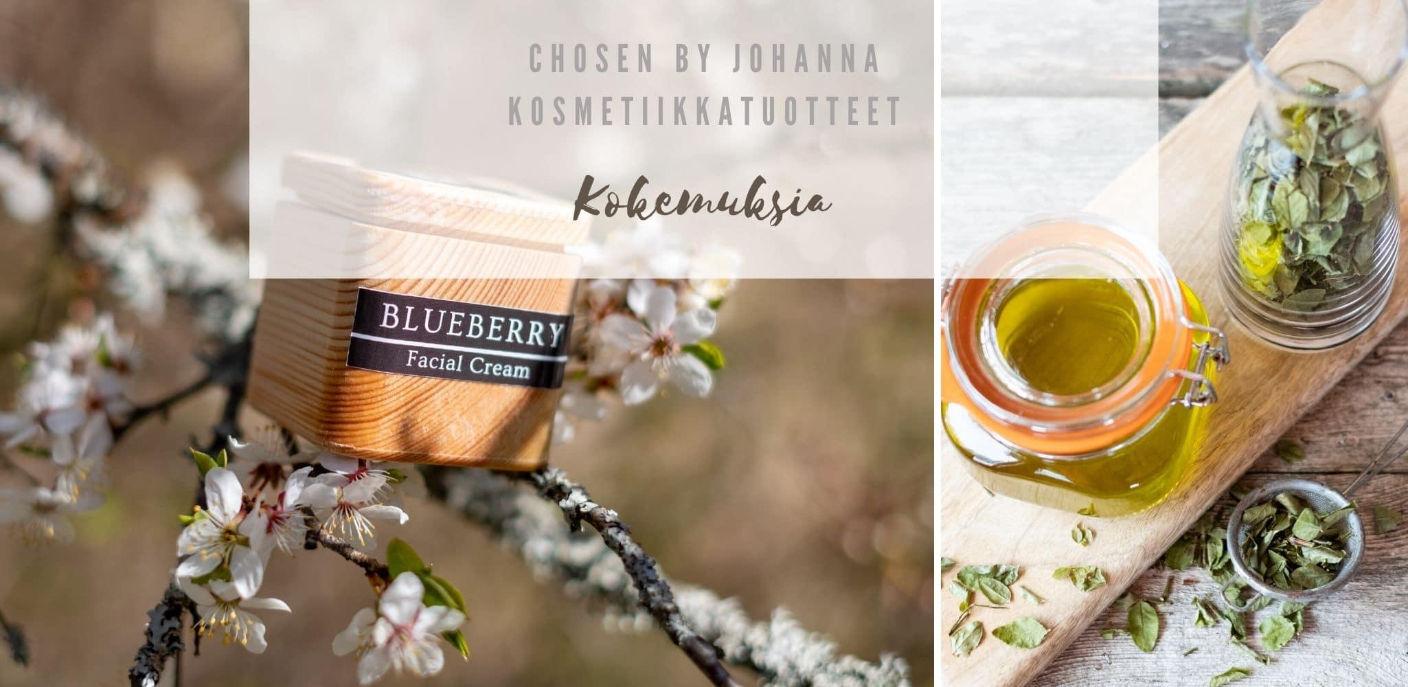 Kokemuksia Chosen by Johanna kosmetiikkatuotteista