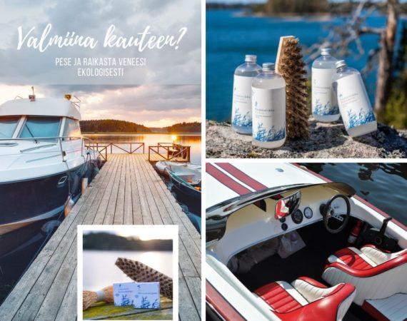 pese ja raikasta veneesi ekologisesti