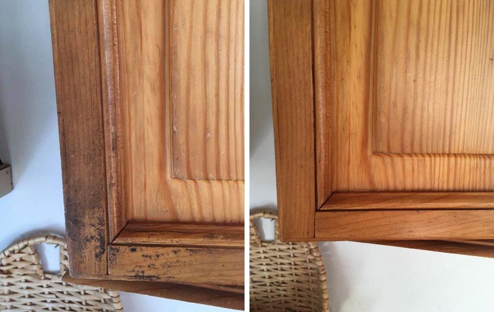 Puukaapin oveen pinttynyt ikilika sai kyytiä. Ja ei tarvinnut edes käyttää voimaa! (2)