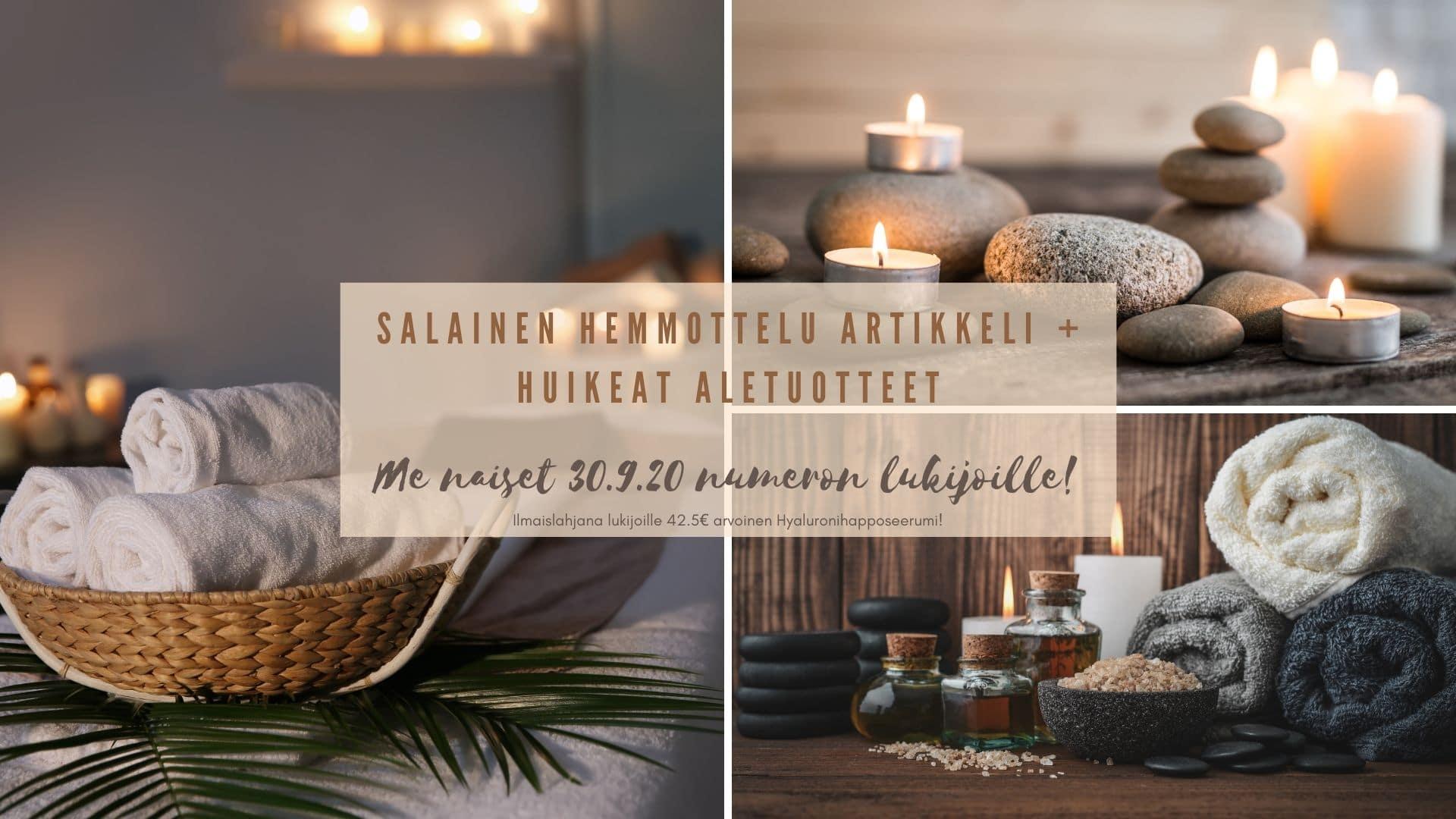 Salainen hemmottelu artikkeli me naiset lukijoille Ilmaislahjana lukijoille 42.5€ arvoinen Hyaluronihapposeerumi!