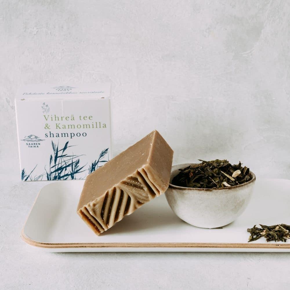 Vihreä Tee & Kamomilla shampoo
