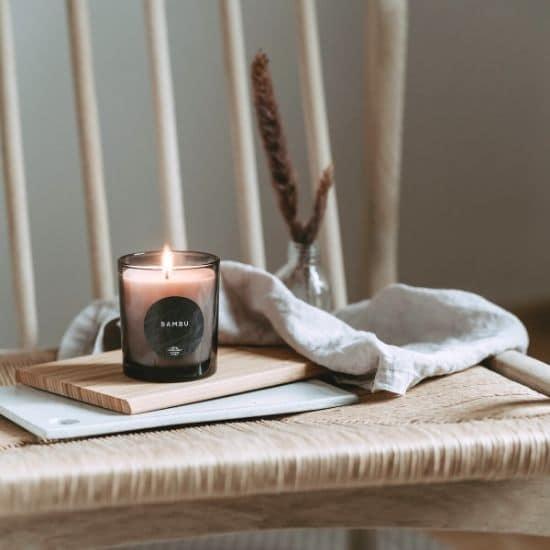 pitkään palava tuoksukynttilä bambu kylpylätunnelma saaren taika