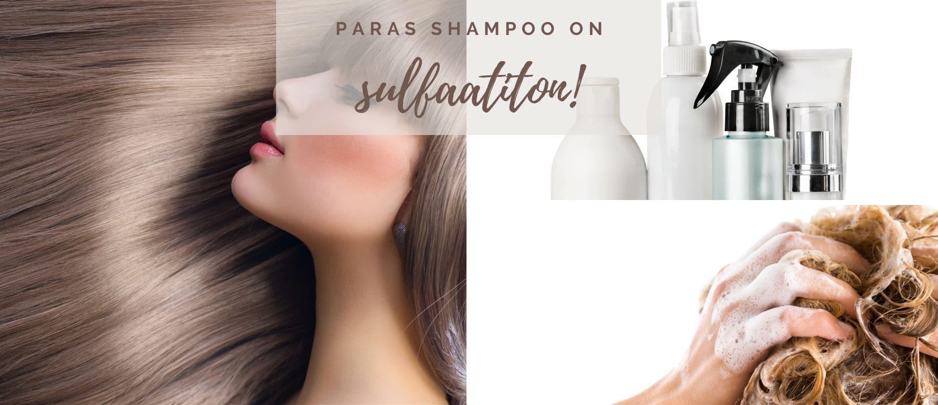 paras shampoo on sulfaatiton
