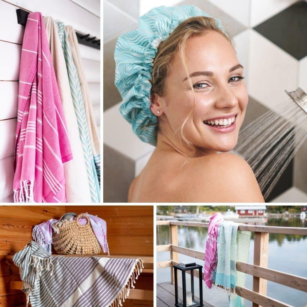 atooppisen ihon pesu suosi hamam pyyhettä kuivaamiseen