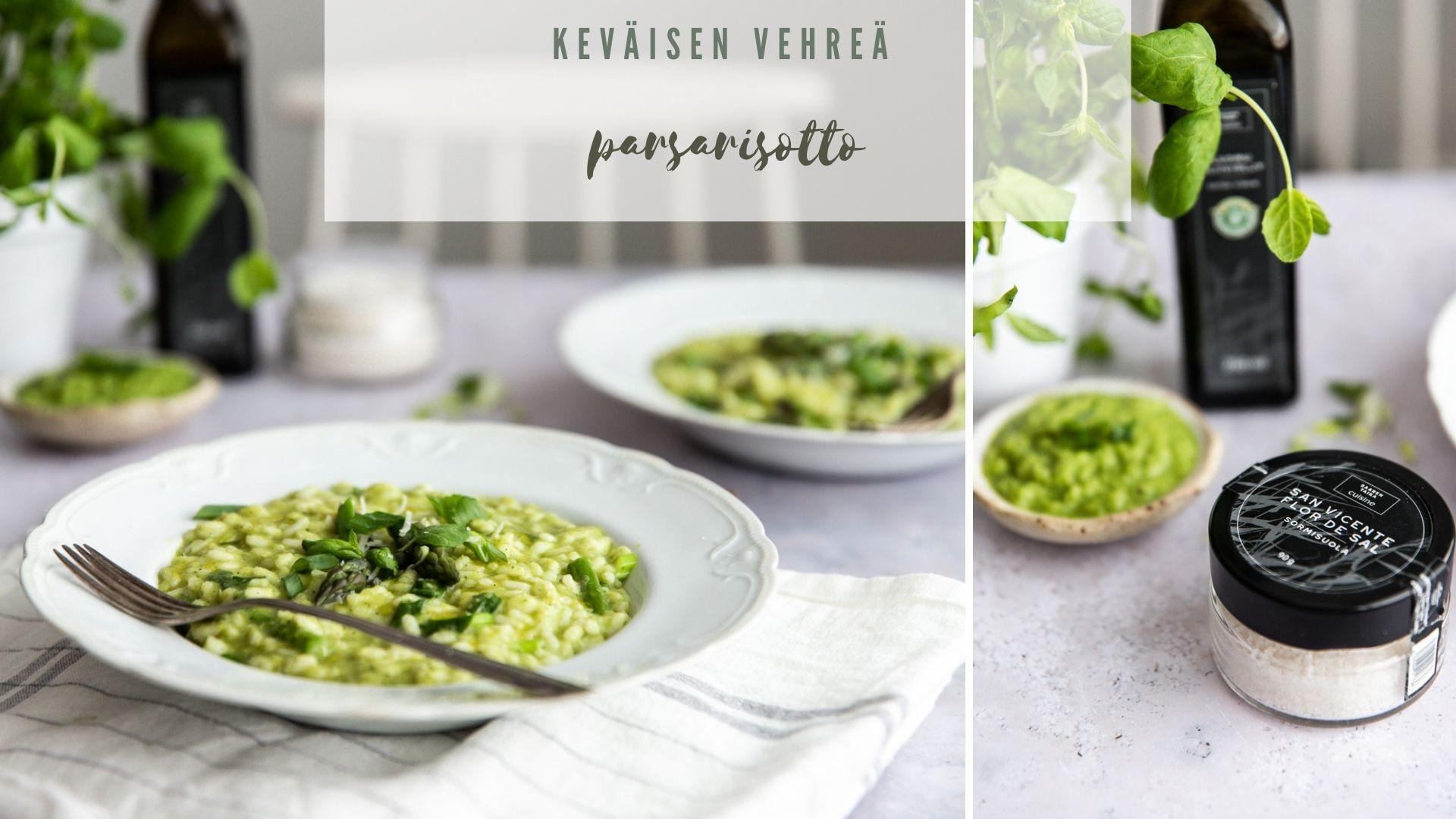 Keväisen vehreä parsarisotto