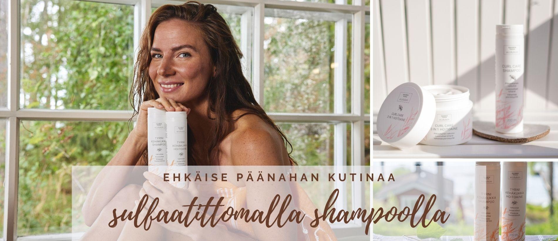 Ehkäise päänahan kutinaa sulfaatittomalla shampoolla
