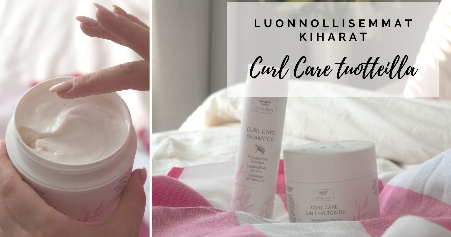 luonnollisemmat kiharat saaren taika curl care shampoo ja hoitoaine