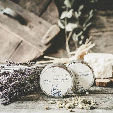 Kamomilla sheavoide ekseema psoriasis saaren taika vegaaninen luonnollinen luomu